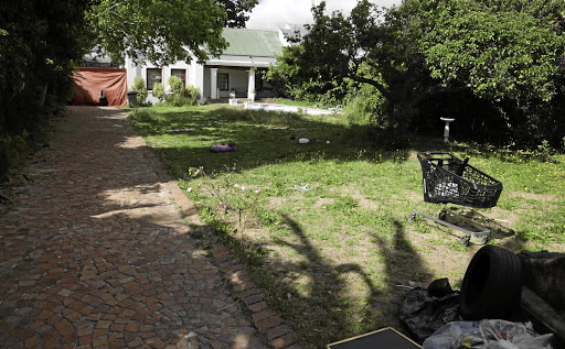 This house in Lochner Road, Constantia, in Cape Town has been taken over by hijackers. Attempts to get the illegal tenants evicted have been unsuccessful.