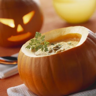 Creamy Pumpkin Soup with Pepitas