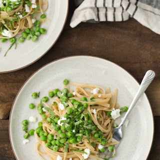 Pea Pasta with Goat Cheese Sauce Recipe