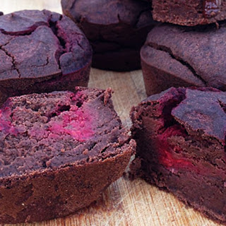 Flourless Black Bean Brownies with Raspberry Swirls [Vegan, Gluten-Free] Recipe
