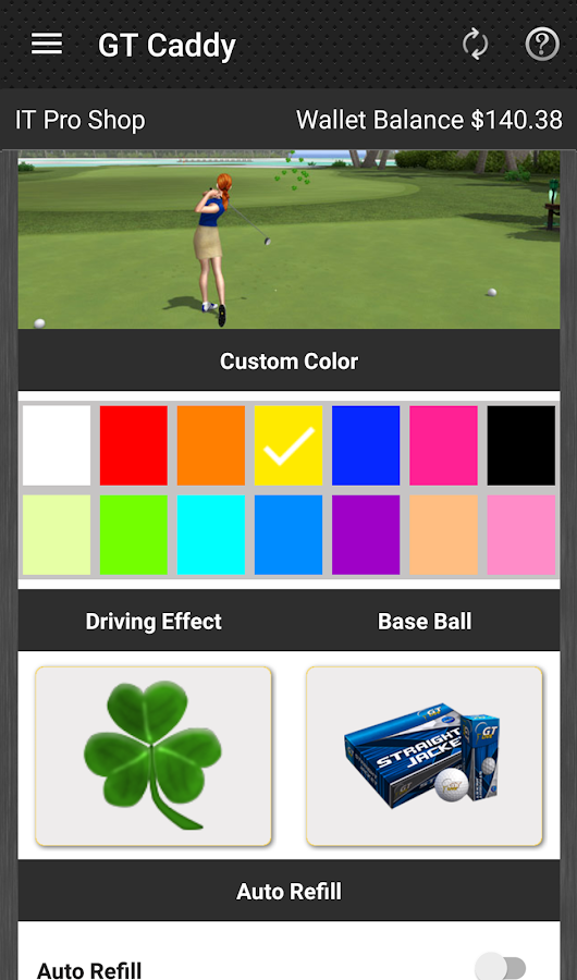 Golden Tee Caddy- screenshot