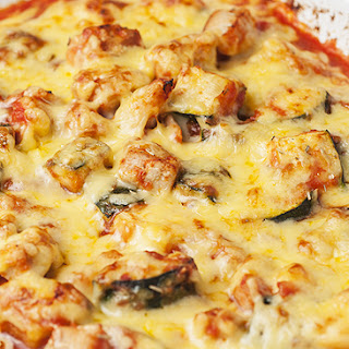 Cheesy Chicken & Zucchini Bake.