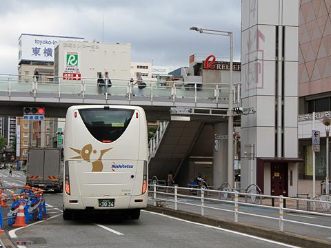 西鉄「はかた号」 0002 小倉駅前発車