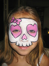 Photo: Girly skull face painting by Maria, Chino, Ca 888-750-7024 http://www.memorableevententertainment.com/FacePainting/MariaChino,Ca.aspx
