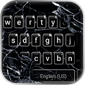 Cracked 3D Glass Keyboard Background icon