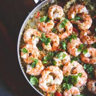 One Pot Thai Shrimp and Quinoa.