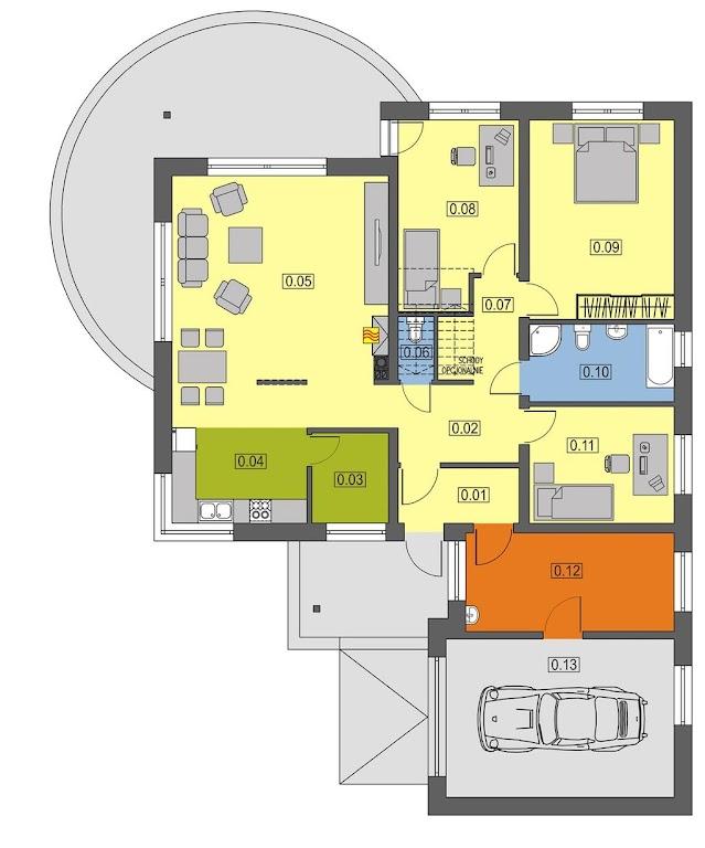 Projekt domu z poddaszem do adaptacji
