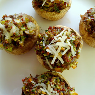 Stuffed Mushrooms with Quinoa.