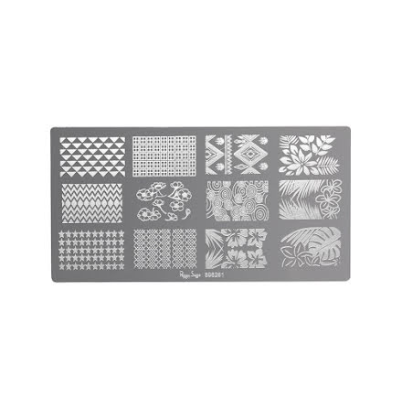 Nagellacksstämpel plate 1