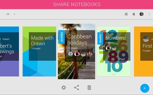Drawn — shared notebooks