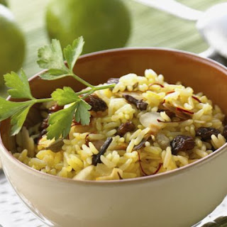 Raisin and Almond Indian Rice.