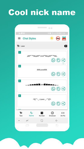 Chat Styles: Cool Font & Stylish Text for WhatsApp 7.1 Screenshots 10