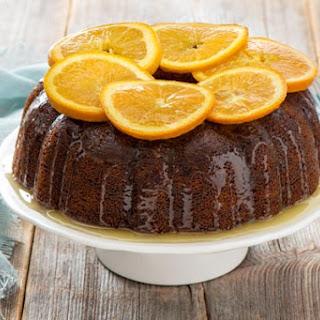 Passion Fruit & Orange Cake.