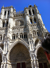 Photo: Amiens Cathedral compared to the birthmark on Matt's ear for scale