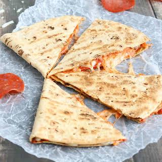 5-Minute Pepperoni Pizza Quesadilla.
