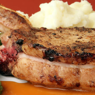Pork Chops with Apple & Whiskey Sauce.