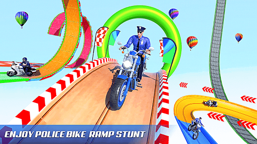 Police Bike Stunt Racing: Mega Ramp Stunts Games modavailable screenshots 10