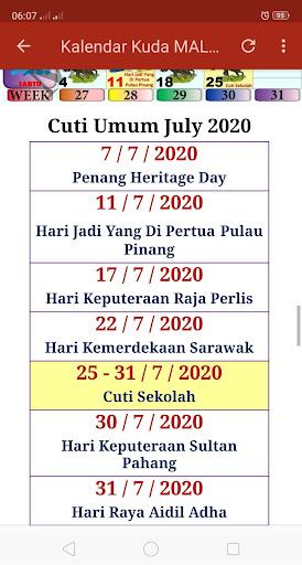 Kalendar Kuda Malaysia - 2020 screenshot