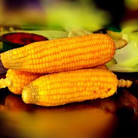 Sweet Corn by Kuntala Basu - Food & Drink Fruits & Vegetables ( corn, edible, snacks, sweet, vegetables, food,  )