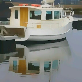 Reflection on the Huon. by Kim Pauly - Novices Only Objects & Still Life (  )