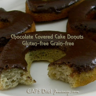 Chocolate Covered Cake Donuts - Gluten and Grain Free