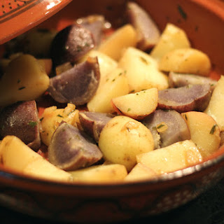 "Potatoes ""roasted"" in a Clay Tagine"