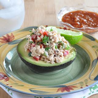 Mexican Salmon Salad in Avocado