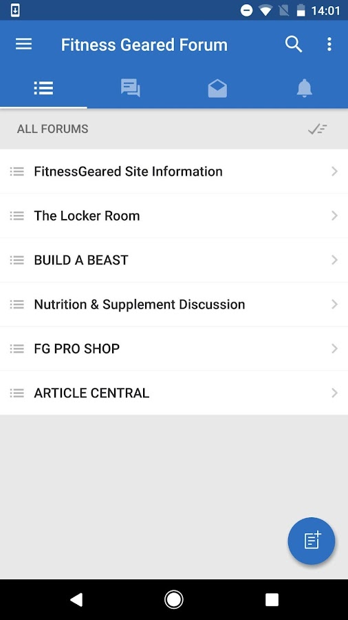 Fitness Geared Forum- screenshot