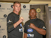 Thomas 'Tommy Gun' Oosthuizen faces off with Thabiso 'The Rock' Mchunu. / Nick Lourens