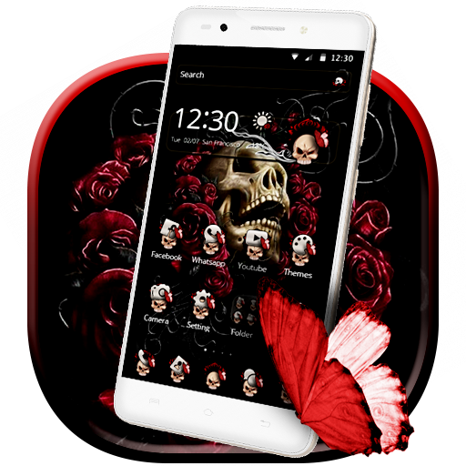 Butterfly Skull Rose Launcher