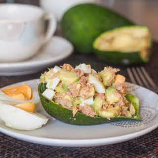 Healthy Avocado Tuna Egg Salad {GF, DF}.