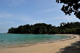 Photo: The famous beach inside the Manuel Antonio NP