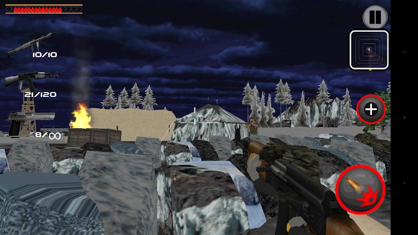 android Army Commando Shooter Sniper X Screenshot 1