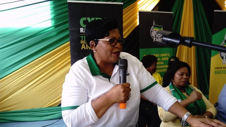NC national executive committee member and Communications Minister Nomvula Mokonyane in Braelyn