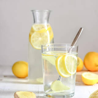 Body Cleansing Lemon Ginger Water.