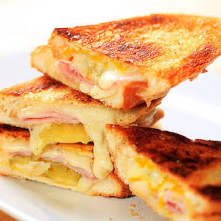 Faux Cubano Grilled Cheese.