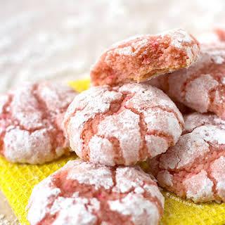Pink Lemonade Crinkle Cookies.