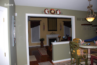 Photo: (Before) Gorman's Breakfast room doorway with half wall Schwenksville, PA
