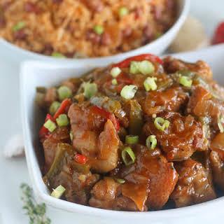 Jamaican Browned Chicken Stew.