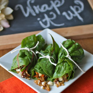 Recipe for Swiss Chard Wraps with Wheat Berry Salad