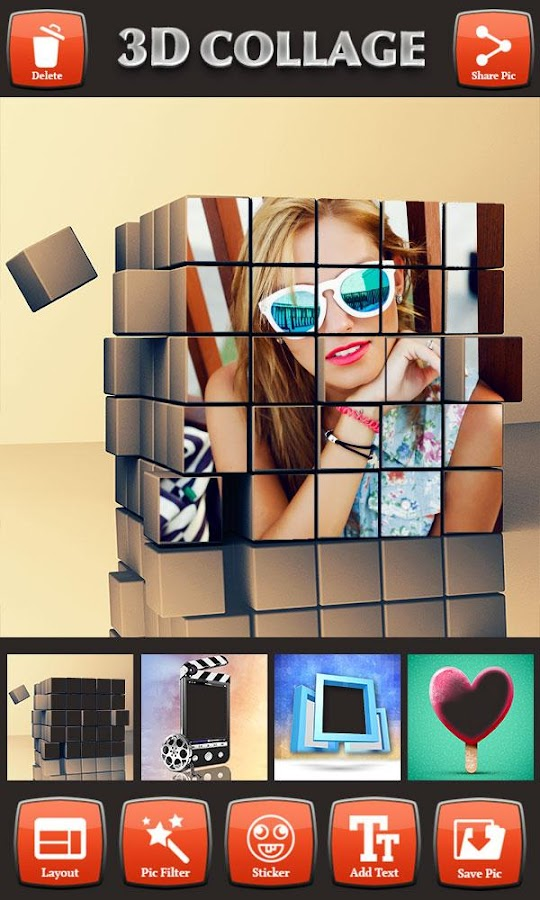 3d Photo Collage Editor Android Apps On Google Play