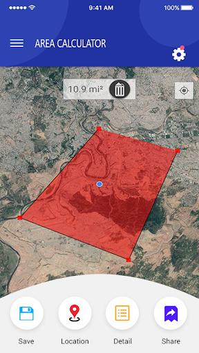 Gps Area Calculator Find & Land Measurement App App Report on Mobile