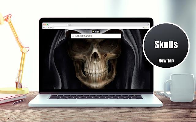 *NEW* HD Skulls Wallpapers New Tab Theme