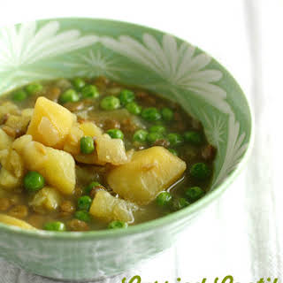 Curried Lentil and Potato Soup.