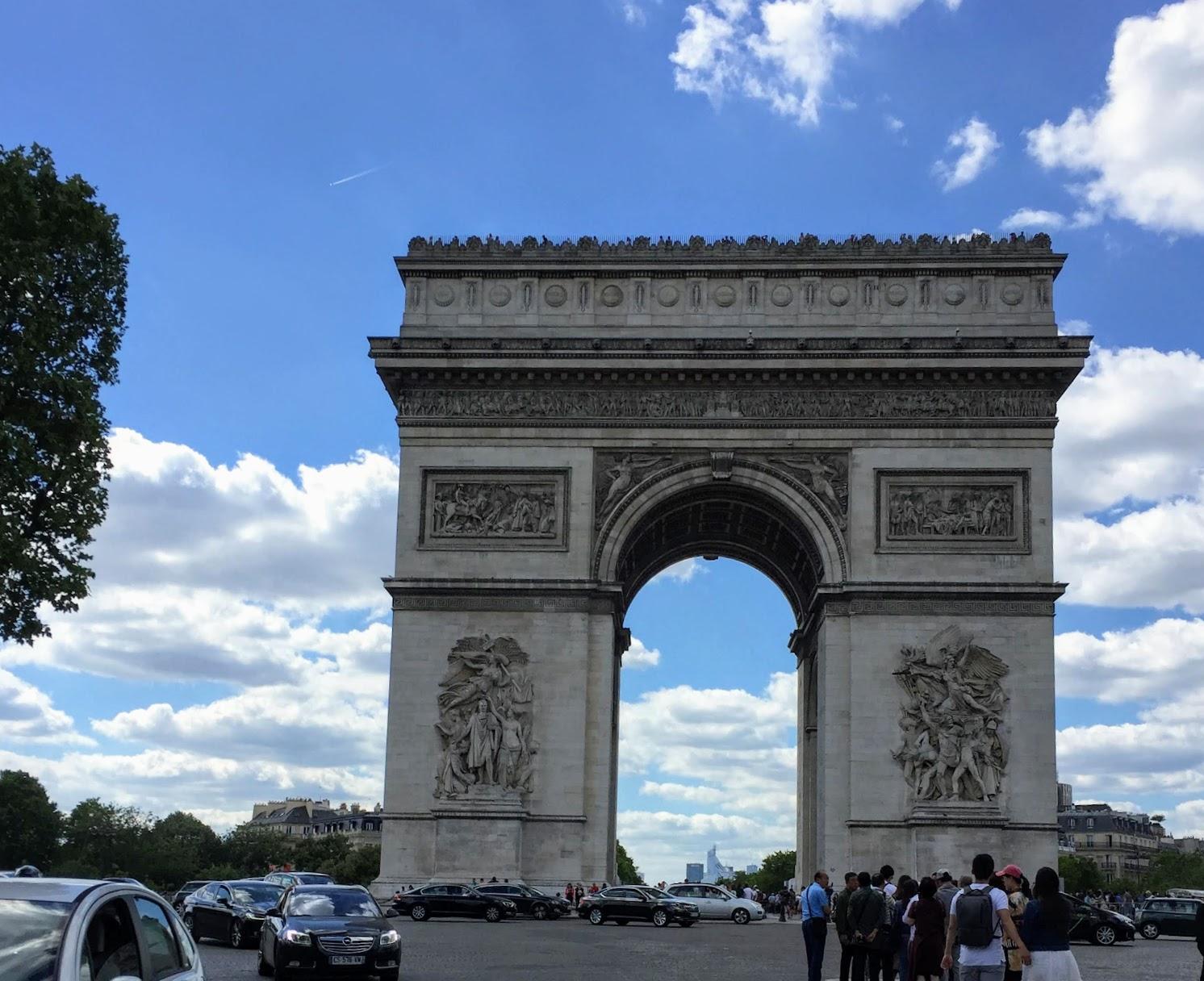 パリ観光一日コース凱旋門Champs Élyséeシャンゼリゼ通り