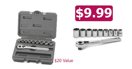 Sears: $9.99 Craftsman 10 Pc W...