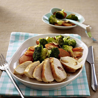 Roasted Chicken Breast with Mixed Vegetables.
