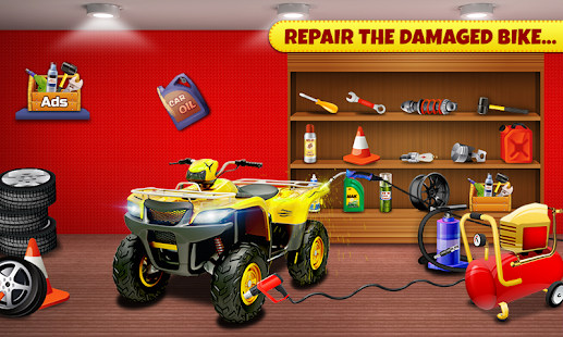 Quad Bike Repair Workshop : Bike Wash Salon - náhled