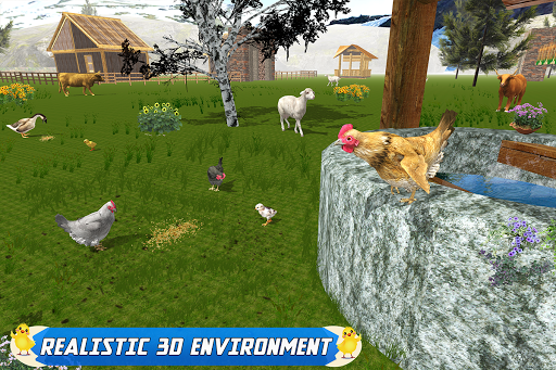 New Hen Family Simulator: Chicken Farming Games apkpoly screenshots 12