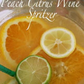 Peach Citrus Wine Spritzer